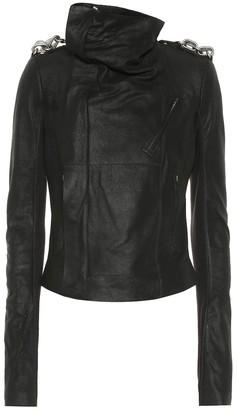 Rick Owens Embellished Biker leather jacket