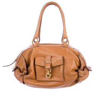 Salvatore Ferragamo Leather Gancio Clasp Bag