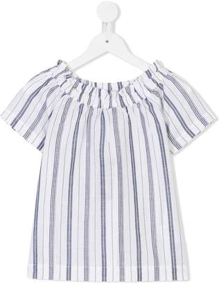 Woolrich Kids striped off-shoulder top