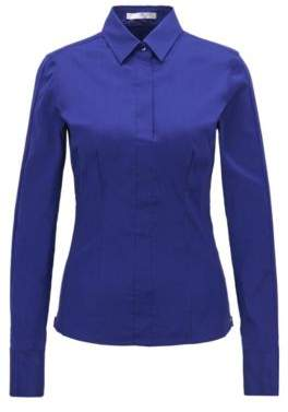 BOSS Hugo Slim-fit blouse darted seam detail 4 Open Purple