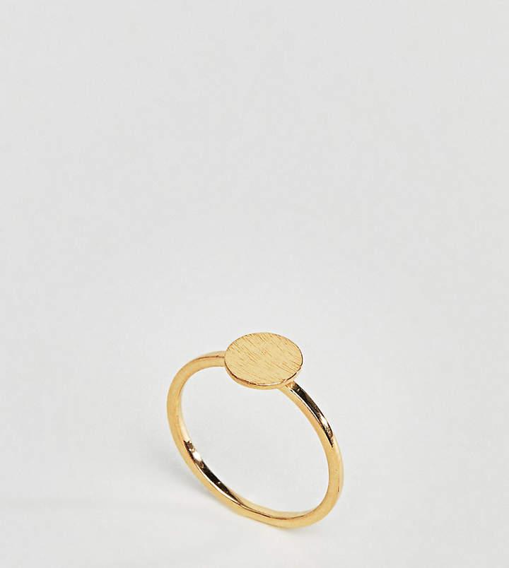 DESIGN – Vergoldeter Ring aus Sterlingsilber mit rundem Design
