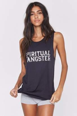 Spiritual Gangster Floral Muscle Tank