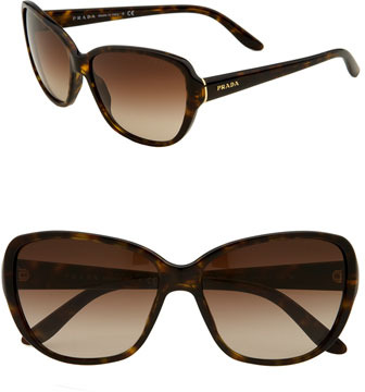 Prada Large Cat's Eye Sunglasses Havana One Size
