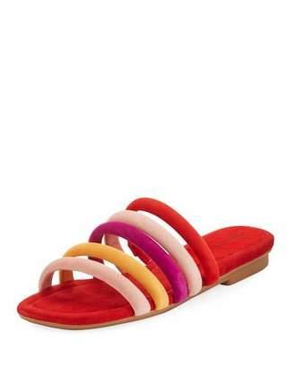 Donald J Pliner Kip Flat Banded Suede Slide Sandal