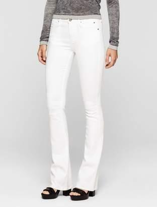 Calvin Klein sculpted clean white slim bootcut jeans