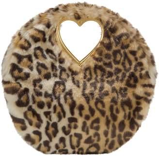 Shrimps Faux Fur Leopard Clutch