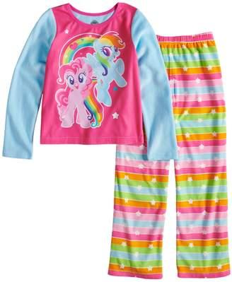 Girls 4-10 My Little Pony Rainbow Dash & Pinkie Pie Fleece Top & Bottoms Pajama Set