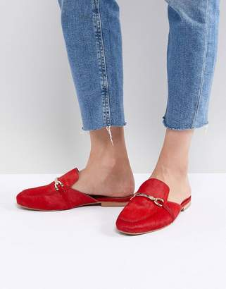 Asos DESIGN Movie Leather Mule Loafers