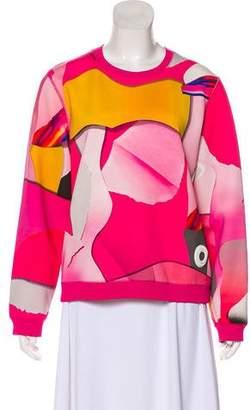 Kenzo Abstract Print Neoprene Sweatshirt