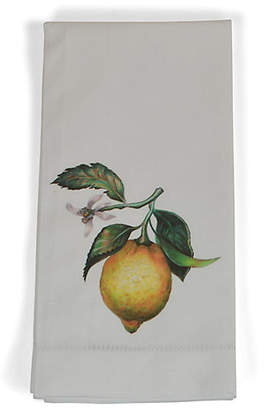 Set of 4 Lemon Dinner Napkins - Yellow - The French Bee