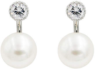 M3155AES-002 CZ & Pearl Front & Back Earrings