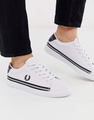 Fred Perry Lottie leather reflective sneakers