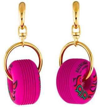 Balenciaga Wheel Drop Earrings