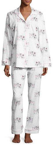 BedHeadBedhead Exclusive Glamping Long-Sleeve Classic Pajama Set, White Pattern
