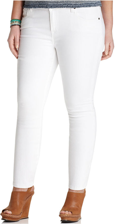 Lucky Brand Plus Size Jeans, Ginger Skinny, White Wash