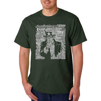 SAM. LOS ANGELES POP ART Los Angeles Pop Art Uncle Short Sleeve Word Art T-Shirt-Men's Big and Tall