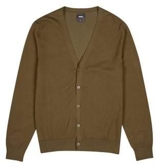Burton Mens Khaki Knitted Cardigan