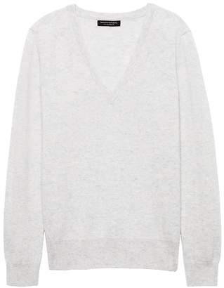 Banana Republic Petite Cashmere Vee Sweater