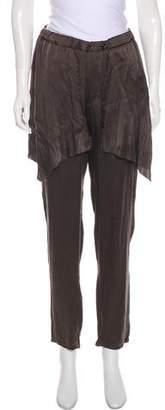 RtA Denim Mid-Rise Silk Pants