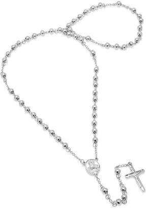 FINE JEWELRY Steeltime Mens Stainless Steel Rosary Necklaces
