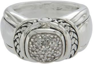 Scott Kay 925 Sterling Silver & Diamonds Engagement Ring Size 6.5