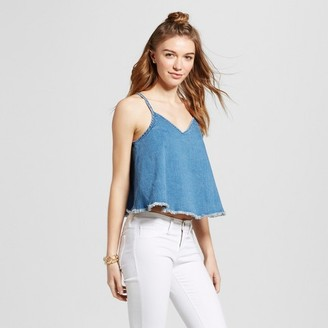 Mossimo Supply Co. Women's Denim Woven Tank - Mossimo Supply Co. Medium Wash $16.99 thestylecure.com
