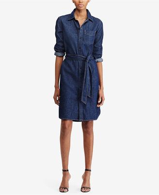 Lauren Ralph Lauren Denim Cotton Shirtdress $125 thestylecure.com