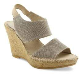 Andre Assous Reese Suede Platform Wedge Sandals