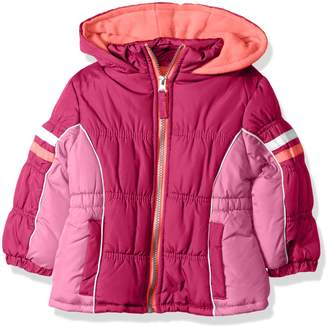 Pink Platinum Little Girls' Colorblock Active Puffer