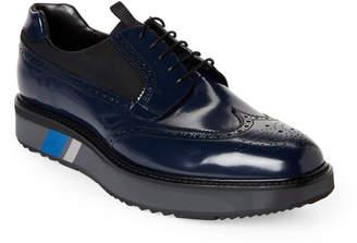 Prada Wingtip Leather Platform Brogue Oxfords