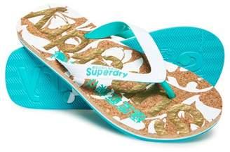 Superdry Printed Cork Flip Flops