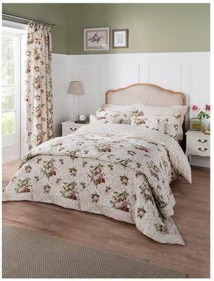Dorma Antique Floral 100% Cotton Sateen 300 Thread Count Duvet Cover