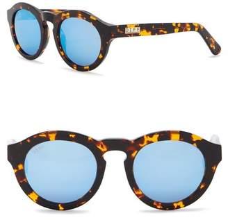 DIFF Dime Round Keyhole Bridge 48mm Acetate Sunglasses