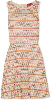 Missoni Crochet-knit Mini Dress - Beige