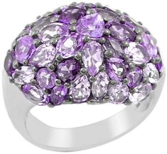Sterling Amethyst Pave Domed Ring