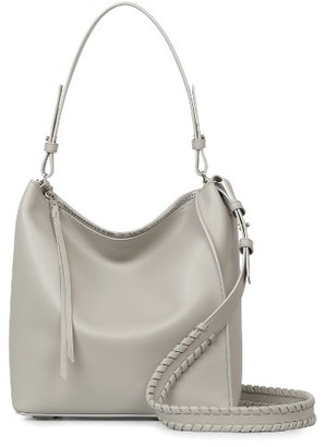 Allsaints Kita Leather Shoulder/crossbody Bag - Grey $298 thestylecure.com