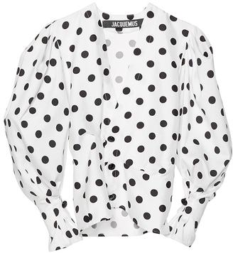 Jacquemus Structured Polka Dot Blouse $590 thestylecure.com