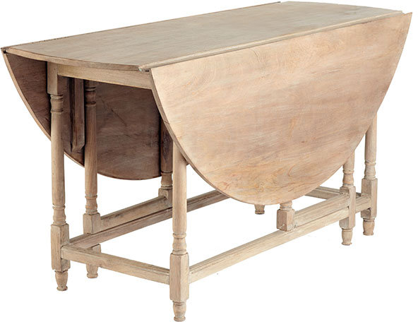 Round Wooden Gateleg Table