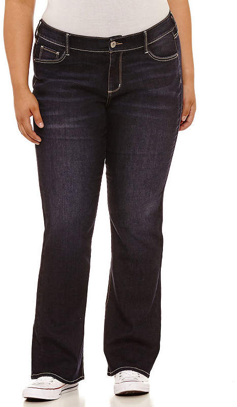 ARIZONA Arizona Bootcut Jeans-Juniors Plus