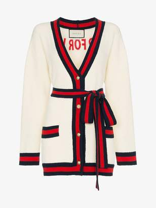 Gucci oversized embroidered cardigan