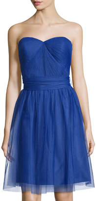 Marina Pleated Strapless Sweetheart Dress, Royal $129 thestylecure.com
