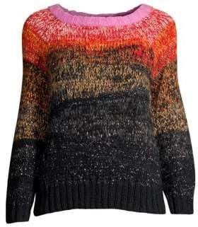 Smythe Metallic Ombre Alpaca Wool Sweater