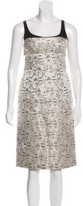 Narciso Rodriguez Printed Silk Dress