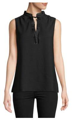 Lord & Taylor Sleeveless Tie-Neck Top