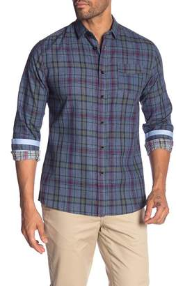 Descendant Of Thieves Plaid Printed Modern Fit Button Front Shirt