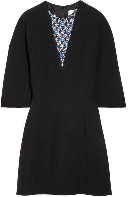 3.1 Phillip Lim Crystal-embellished wool-blend crepe dress