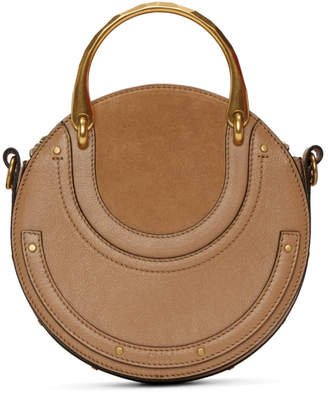 Chloé Brown Suede Pixie Bag