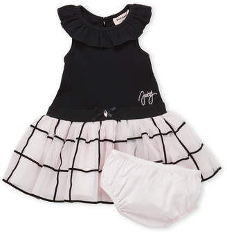 Juicy Couture Infant Girls) Two-Piece Ribbed Flounce Tutu Dress & Bloomers Set
