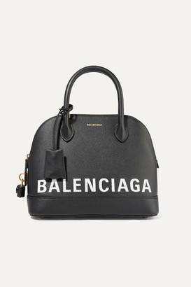 Balenciaga Ville Printed Textured-leather Tote - Black