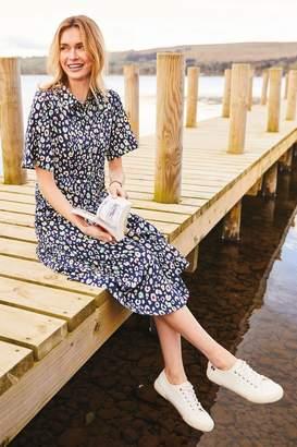 Joules Womens Blue Carla Short Sleeve Shirt Dress - Blue